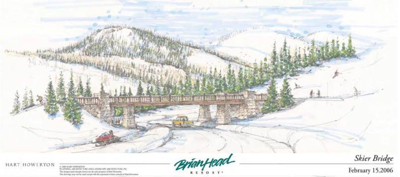 Brian Head Resort | Interconnect Bridge Rendering
