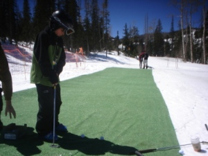 On-Snow Putting Green