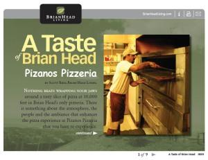 Brian Head Living Magazine Pizanos Pizzeria